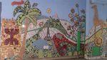 belleville, rue Piat, mosaïque participative, Paris-Habitat
